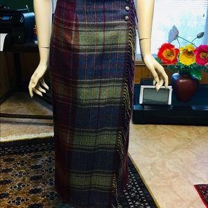 Ralph Lauren wool plaid skirt size 10